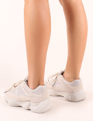 Kaidee Chunky Trainers in Sand