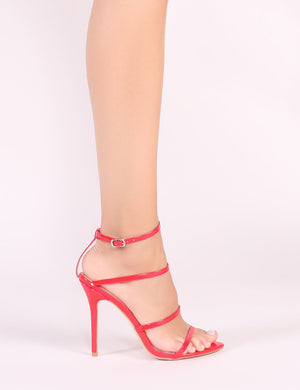 Datenight Strappy Heels in Red