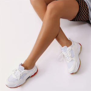 Revival Chunky Trainers in White