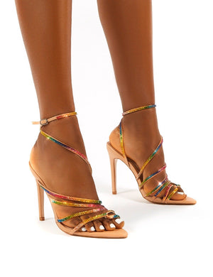 Starstruck Multi Diamante Strappy Stiletto Heels