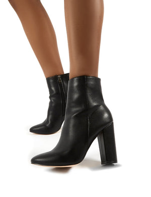 Presley Ankle Boots in Black PU