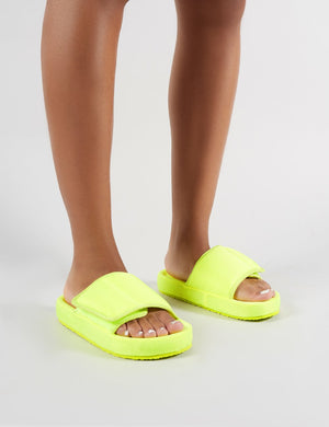 Revel Sliders in Neon Yellow