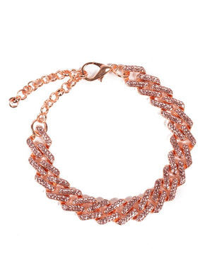 Rose Gold Diamante Anklet Chain
