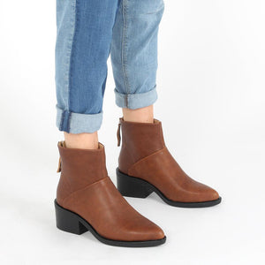 Isabella Ankle Boots in Brown