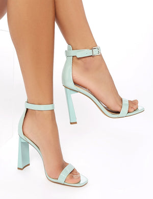 LISSY RODDY x PD Roxy Sage Patent Barely There Heels