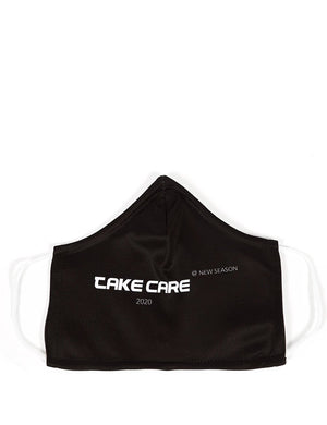 Black Take Care Slogan Fashion Face Mask