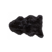 Sheepskin Rug - Black - The Slipper Box