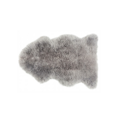Sheepskin Rug - Grey - The Slipper Box