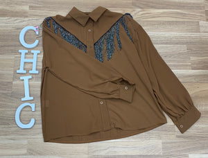 Camisa Cowgirl Flecos