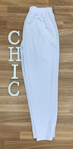 Pantalon jogger color blanco