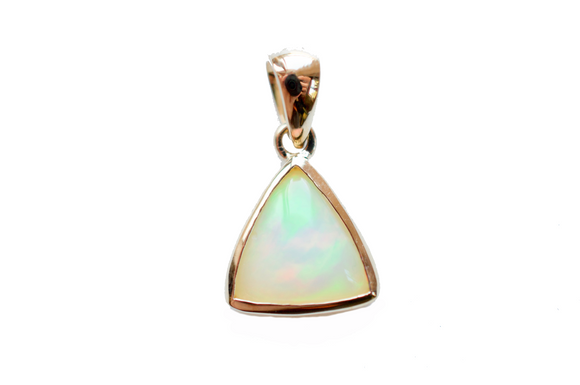 Sona 18K Gold Opal Pendant Necklace