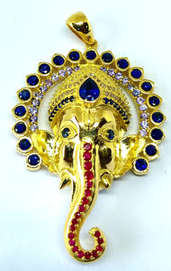 18k gold Ganesh with 108 stones