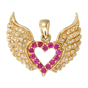18k Heart and Wings