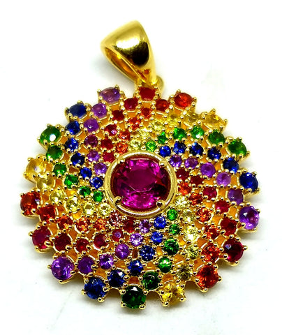 18k gold Rainbow Mandala
