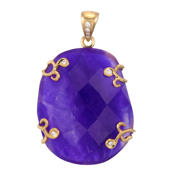 18k Sugilite with Diamonds