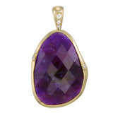 18k Creamy Dreamy Sugilite Pendant with spinning bail