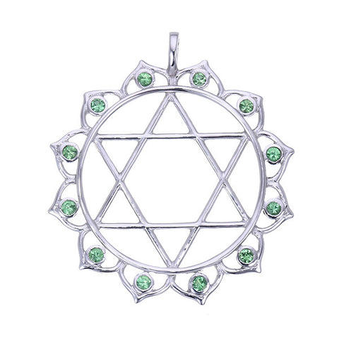 7 chakras sterling silver and tsavorite or pink tourmaline anahata 7 chakras sterling silver and tsavorite or pink tourmaline anahata heart chakra pendant jai mozeypictures Images