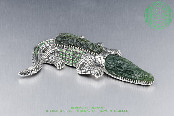 Sterling Silver Sleepy Alligator