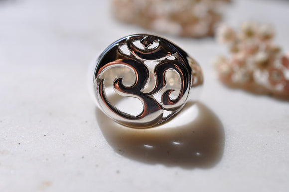 Om Sterling Silver Ring sacred jewelry spiritual jewelry