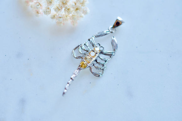 Scorpion Citrine Sterling Silver Pendant
