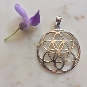 Sterling silver seed of life pendant