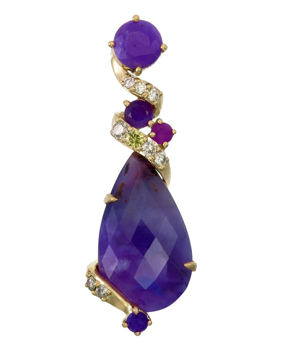 18k Sugilite Dream Pendant...