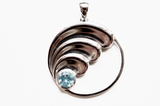 Ocean Wave Sterling Silver Pendant & Necklace (Plus 4ocean Donation)