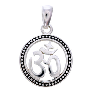 Sterling Silver Om Pendant (mini)