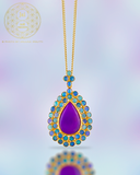 18k Sugilite and Opal Dream Pendant
