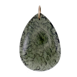 Beautiful Moldavite half polished pendant