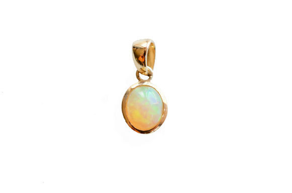 Zêr 18K Gold Opal Pendant Necklace