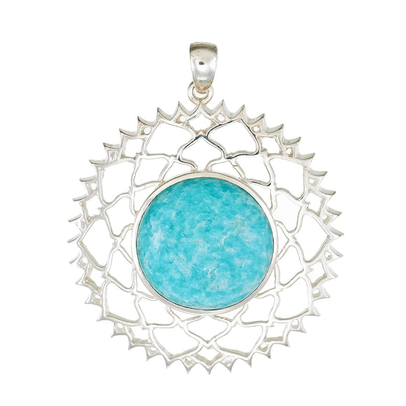 No Mud, No Lotus Amazonite Pendant