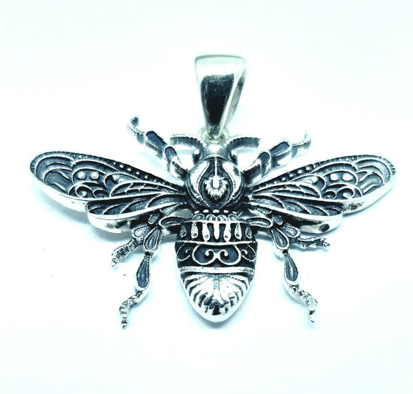 Bee Kind Sterling Silver Bee Necklace