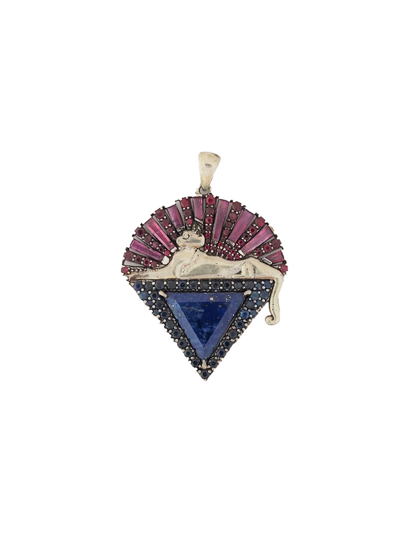 Jerry Garcia Cats Down Under the Stars with Rubies, Blue Sapphires, and Lapis Lazuli
