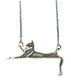 Silver Cats Down Under the Stars Necklace