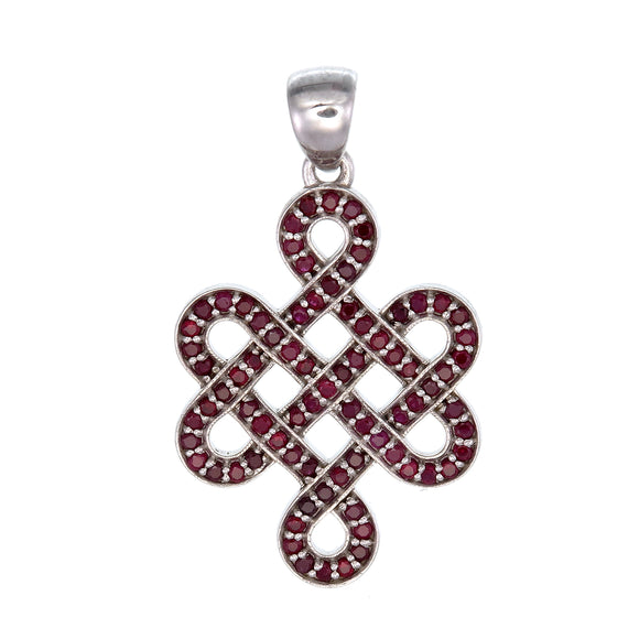 Ruby Shrivasta Endless Knot Sterling Silver Pendant
