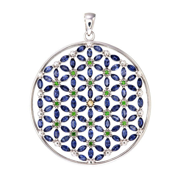 Flower of Life with 108 stones/Iolite
