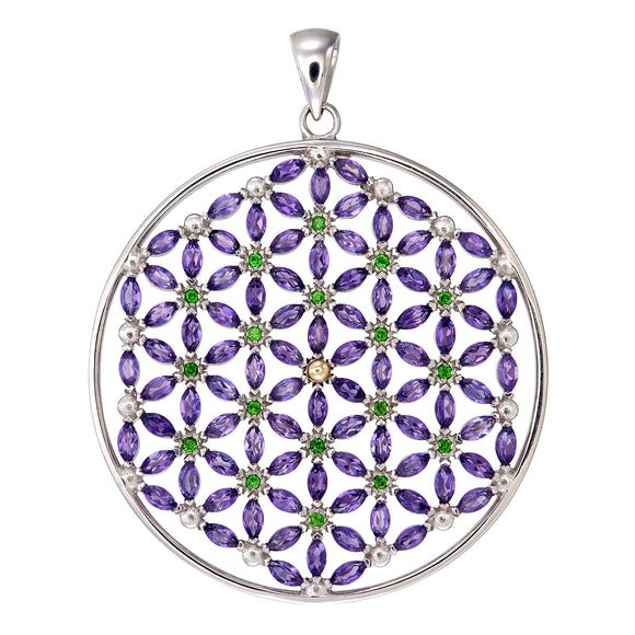 Flower of Life with 108 stones/Amethyst