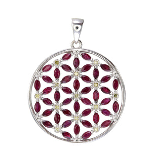 Flower of Life Mini with Rubies