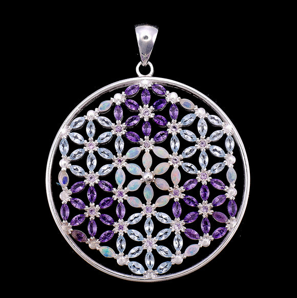 Flower of Life Mandala with 108 stones