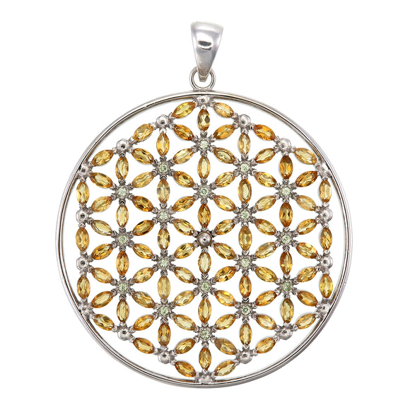 Flower of Life w/108 stones/citrine