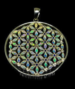 Flower of Life with 108 Opals