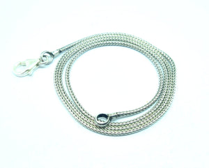 "Sterling Silver 18"" Lightweight 1.5mm Snake Chain"