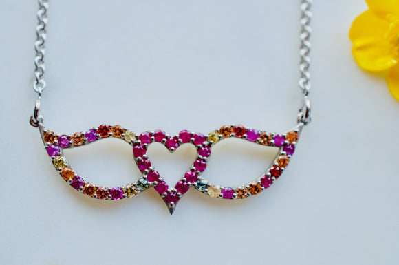 Heart and Wings necklace