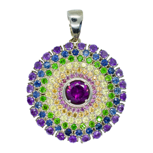 Sky Arch Rainbow Mandala Pendant Necklace