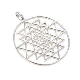 Sri Yantra  sterling silver pendant- Jai 108 Presents