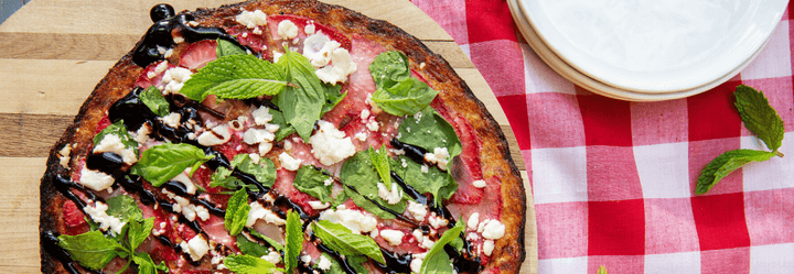 Strawberry Balsamic and Herb Pizza - Cali'flour Foods Crust