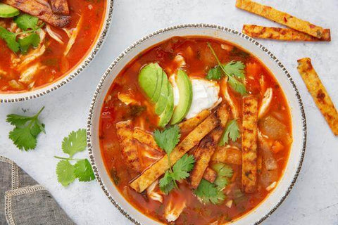 Chicken Taco Soup with Cali-Strips
