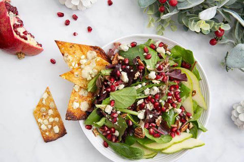 Christmas Salad with Cheese Crostini