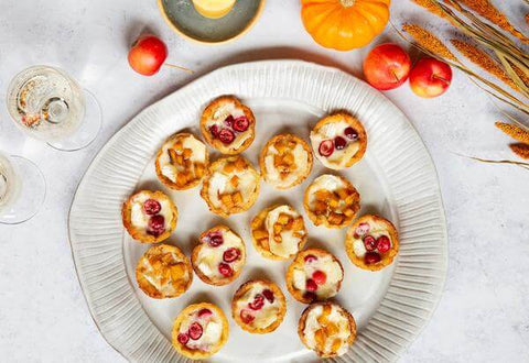 Cranberry and Persimmon Brie Bites